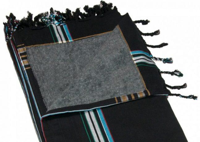 BLUE SUMMER. Classic Kikoy Towel Black Charcoal