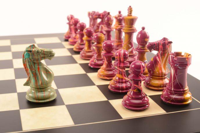 PURLING. Art Chess by Darren MacPherson No4 Magenta Green 1 lowres