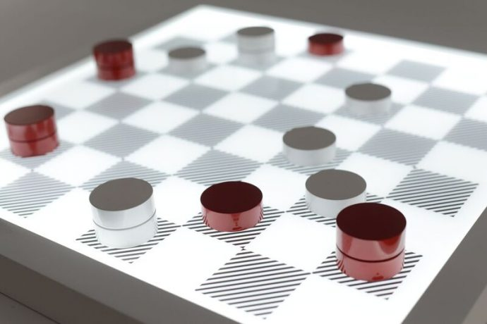 PURLING RED CHECKERS. 2